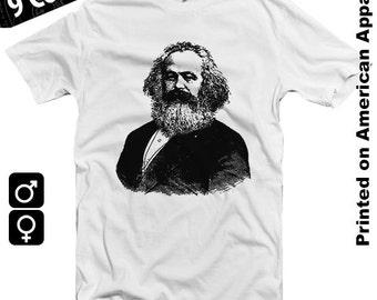 Karl Marx American Apparel T-shirt S-XXL Economics, Philosophy, Das Kapital, Capitalism, Class System, Religion, Communism, Genius Cool Gift