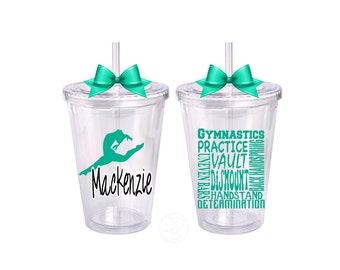 Gymnastics Cup, Gymnastics Gift,  Gymnastics Water Bottle, Personalized Gymnastics Tumbler, Gymnastics Love, Custom Gymnastics Gift Idea