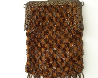 Victorian Beaded Purse for Repair