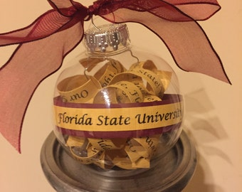 Florida State University Fight Song Ornament