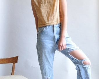 80s Wranglers 28x25 / Ripped Torn Worn / Blown out 28 waist