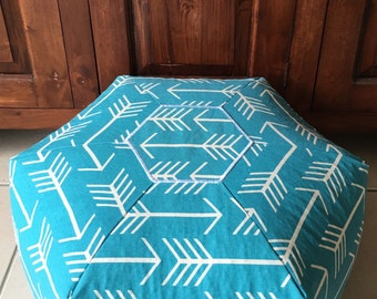 Premier Prints Mint or Aqua Arrow Pouf Ottoman Floor Cushion Bean Bag Chair Kids Nursery