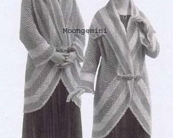 Crochet Sweater Coat Comfywrap Hoodie Great Circle Crochet Cozy Coat Pattern PDF Instant Download