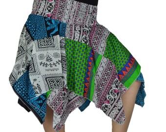 Patchwork Hanki Skirt Cotton
