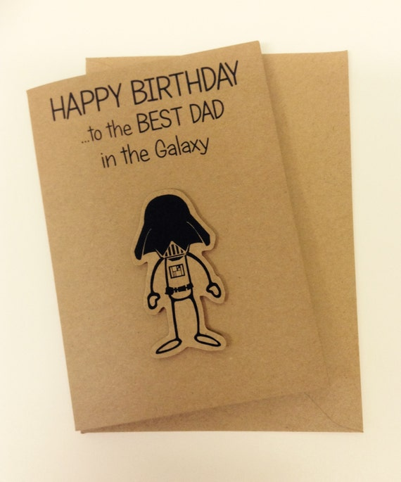 Items Similar To Cute Star Wars Inspired 'BEST DAD