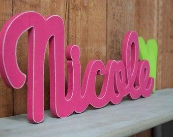 Nicole - Custom Wooden Name Sign - Nursery - Baby Name - Wedding - Shower Gift - Baby Name Sign, Kid's room decor, Nursery Nesting