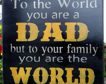 Rustic Wood Sign - Father's Day Sign - Father's Day Gift - Dad Sign - Best Dad - Family wall hanging - Man Cave Decor - Rustic Home Decor