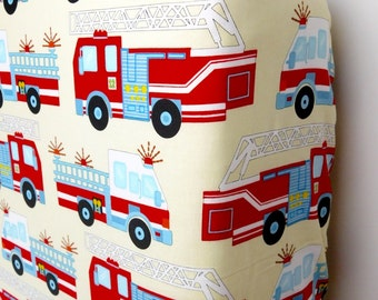 Firefighters crib sheets, Firefighters bedding, firefighters nursery, firemen baby bedding, firetrucks crib bedding, Firefighters baby gift.