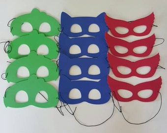 PJ MASKS - Only 1.25 Each for 12 or more Assembled Masks -Use for Favors or Crafts Pj Hero Masks, Superhero Masks, Super Hero Masks