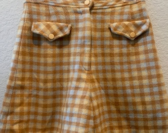 Yellow Plaid Pandora shorts
