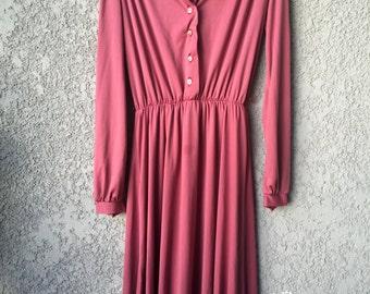Dark Pink long sleeved dress
