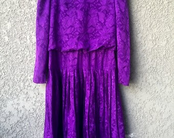 Purple long sleeved Jody dress