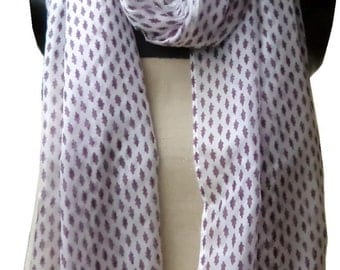 Block printed scarf