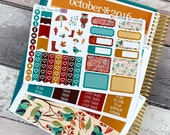 Vinyl | 'Autumn Owls' - Mini Planner Stickers Kit
