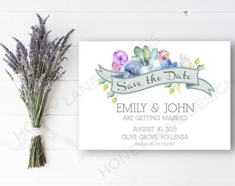 Personalised Printable, Save-the-Date-Printable Card - Emily Collection