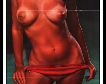 "Mature Playboy May 1969 : Playmate Centerfold Sally Sheffield Gatefold 3 Page Spread Photo Wall Art Decor 11"" x 23"""