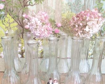10 Bud Glass Vases Glass Wedding Party Vases Clear Glass Vases