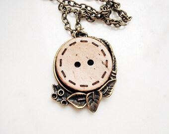 Cute as a button necklace