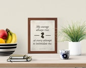 Jane Austen Pride and Prejudice - Literary Quote Small Poster, Love Quote Printable, Quote Posters, Book lovers gift, digital download