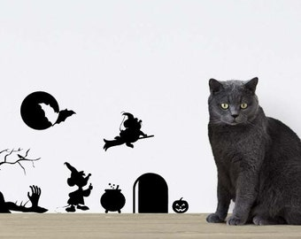 Digital cutfile Mice from Disney Cinderella in Halloween style. Cool wall decal! SVG PDF for Cameo, Cricut etc
