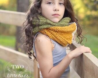 Crochet Pattern, crochet infinity scarf pattern, infinity scarf, easy crochet scarf pattern, sizes child and adult, DAKOTA INFINITY SCARF