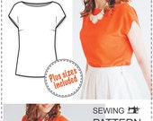 Beginner Blouse Pattern - PDF Sewing Pattern