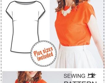 Beginner Blouse Pattern - PDF Sewing Pattern