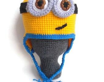 Minion Crochet Beanie. Minion Hat. Made to Order
