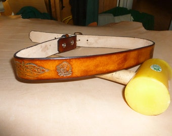 Fisherman CUSTOM HAND Made LEATHER Belt 1 1/2 in(bass)