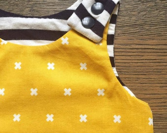 OnePiece yellow mustard unisex for babies