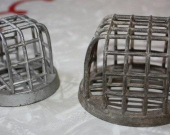 Vintage Pair Metal Dazey Flower Holder/Cage/Frog
