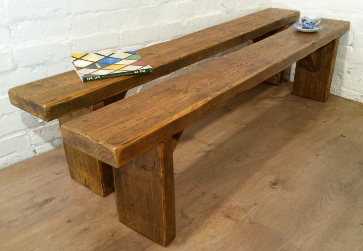 Furniture Village Delivery free delivery! x2 6ft pair solid reclaimed pine dining table