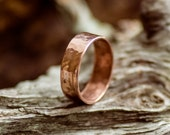 Light Magic copper ring. Mens ring. 7 years together - Copper Wedding, Copper band. Anniversary gift. For him. Mens gift.