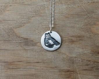 Panda fine silver pendant