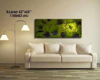 Original Oil Green Painting, Green wall art Green Wall Decor, Abstract Landscape, Landscape Art, Leaf Decor, Leaf Wall Decor