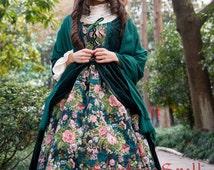 "SurfaceSpell ""Rose Garden in Winter"" Layered Look Gobelin JSK. Elegant Lolita Dress"