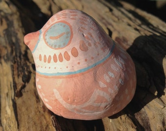 Sleepy Blue and Pink Chalk Chick Totem   Easter   Gift  
