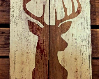 Barnwood Sign - Deer Silhouette