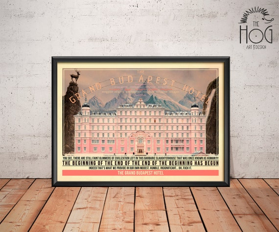 Grand Budapest Hotel Quotes Unique The Grand Budapest Hotel Poster Quote Retro Movie Poster
