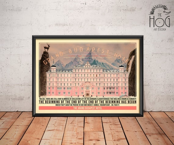 Grand Budapest Hotel Quotes Glamorous The Grand Budapest Hotel Poster Quote Retro Movie Poster