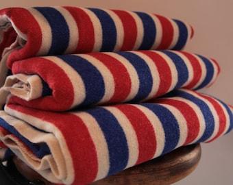 French Vintage Wool Blanket