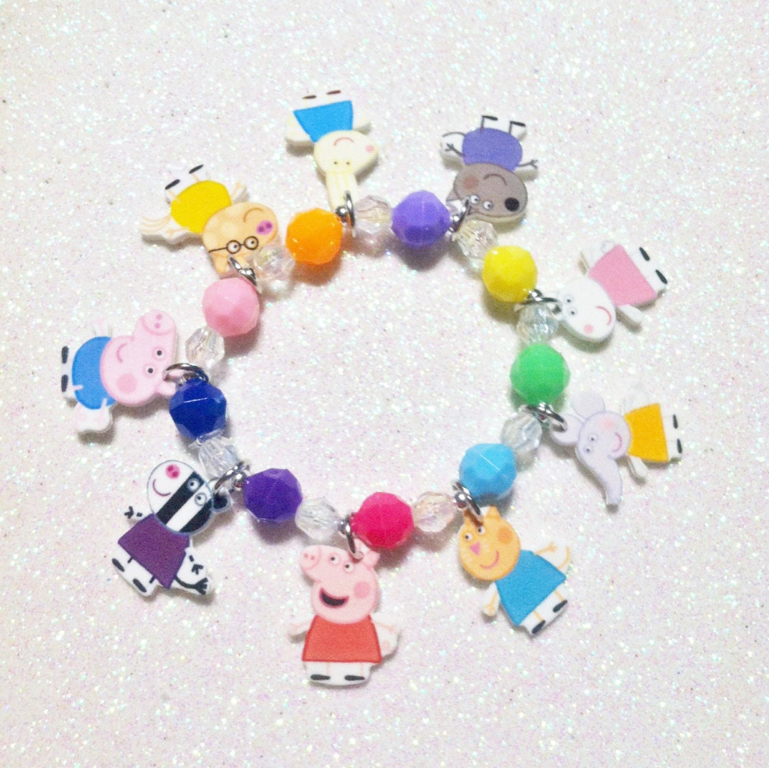 Pig Charm Bracelet: Peppa Pig Charm Bracelet Peppa Pig Charm By Made4UBySisters2