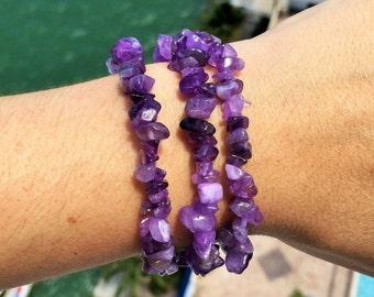 Amethyst Bracelet/ Chakra Crystal Bracelet Jewelry infused w/ Reiki