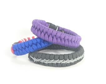 Paracord Bracelet Fishtail, Stocking Stuffers, Hipster Jewelry, Survival Bracelet, Urban