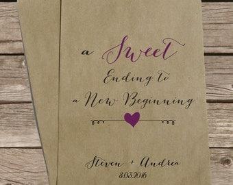 Custom Wedding Candy Bags, Favor Bags