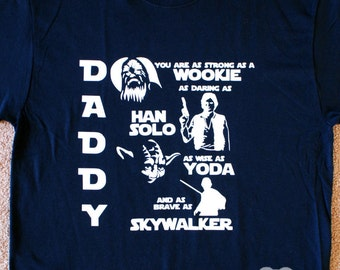 Daddy Star Wars Theme Shirt