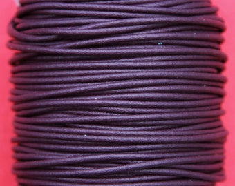 MADE IN SPAIN 6 feet 2mm leather cord, 2mm purple leather cord, 2mm jewelry leather cord (2IRI)