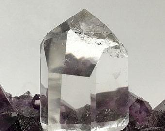 Polished Quartz Points on Cut Base - Healing Crystals
