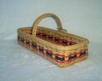 Handmade Basket: A Long and Short Market Basket