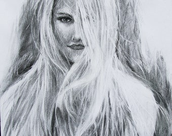 Custom Charcoal Drawing | Custom Charcoal Portrait | Custom Portrait | Women and children custom charcoal drawing